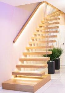Zdjęcie nr: 11 - Schody półkowe podświetlane LED