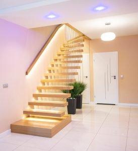 Zdjęcie nr: 10 - Schody półkowe podświetlane LED